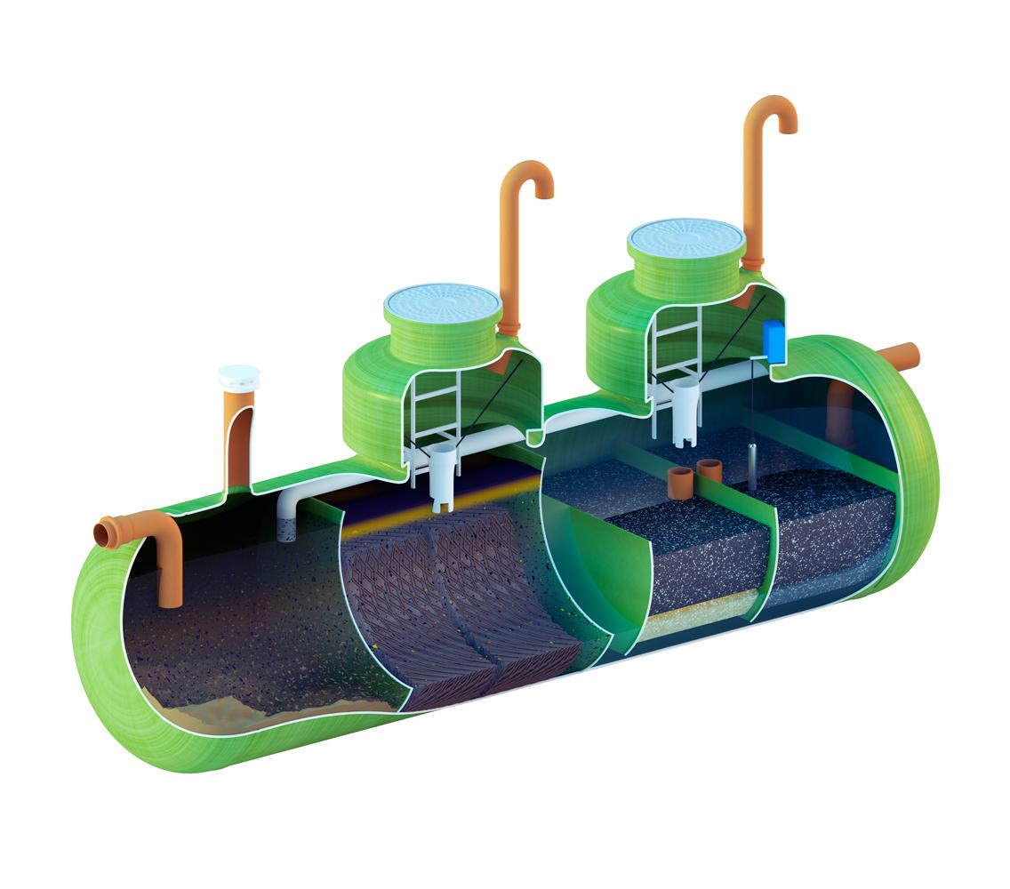 Ливневая канализация в одном корпусе